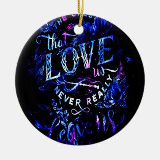 Le rêve de l'amant celui qui nous aiment ornement rond en céramique