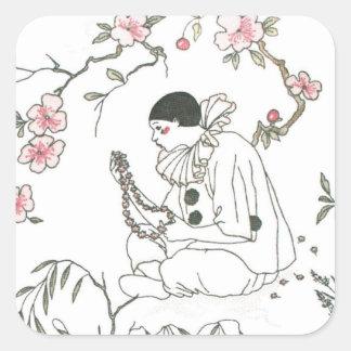 Le rêve de Pierrot Sticker Carré