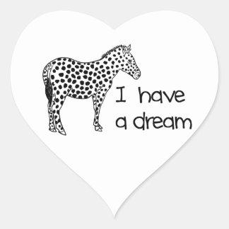 le rêve du zèbre sticker cœur