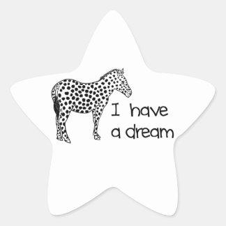 le rêve du zèbre sticker étoile