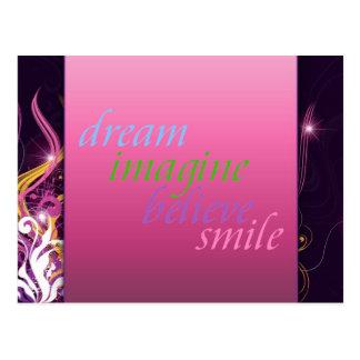 le rêve imaginent pour croire le sourire carte postale