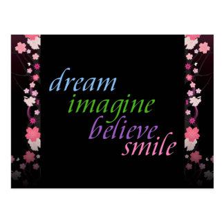 le rêve imaginent pour croire le sourire cartes postales