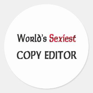 Le réviseur le plus sexy du monde adhésif rond