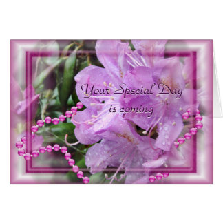 Le rhododendron et les perles 2 - customisez cartes