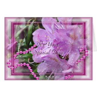 Le rhododendron et les perles customisent cartes