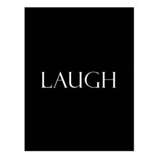 Le rire cite la citation inspirée de rire carte postale