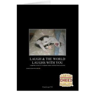 Le rire et le monde rit avec vous cartes