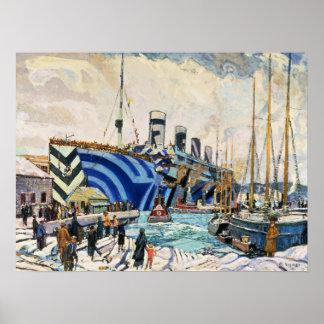 Le RMS olympique brillent dedans affiche du Posters
