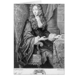 Le Robert honorable Boyle gravé par B. baron Carte De Vœux
