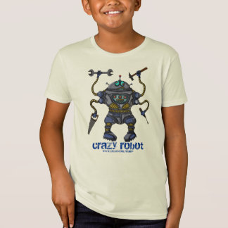 Le robot fou drôle badine le T-shirt