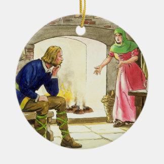 Le Roi Alfred (849-99) brûlant les gâteaux, du Ornement Rond En Céramique