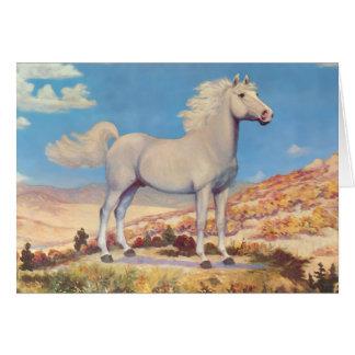 Le Roi blanc Of The Plains d'étalon Carte De Vœux