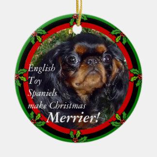 Le Roi Charles Christmas Ornament Ornement Rond En Céramique