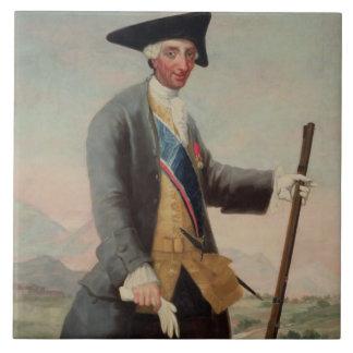 Le Roi Charles III (1716-88) en tant que chasseur, Grand Carreau Carré