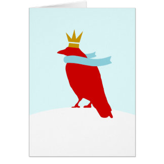 Le Roi Crow Carte De Vœux