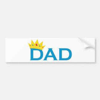 Le Roi Dad Autocollant Pour Voiture