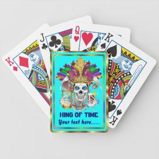 Le roi de mardi gras de la vue de temps note svp cartes de poker