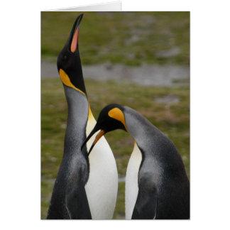 Le Roi de poursuite pingouins Carte De Vœux
