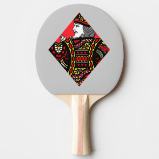 Le roi des diamants raquette de ping pong