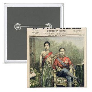 Le roi et la reine du Siam Badge