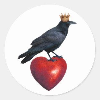 Le Roi Heart Sticker de Raven