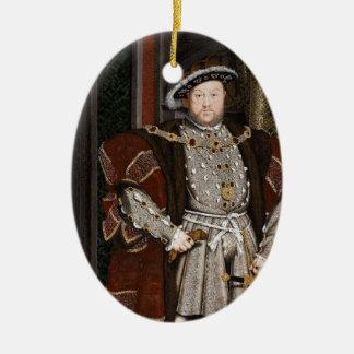 Le Roi Henry VIII de l'Angleterre Ornement Ovale En Céramique