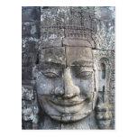 Le Roi Jayavarman VII du temple de Bayon Cartes Postales