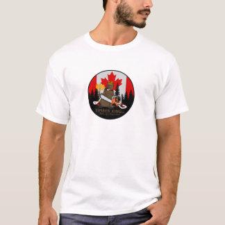 Le Roi Log et meubles en pierre de bois de T-shirt
