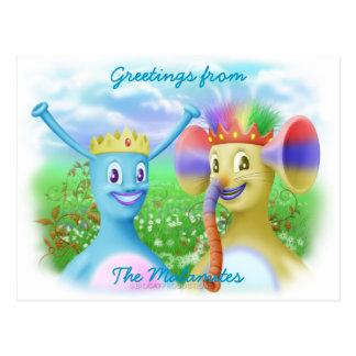 Le Roi Monty et prince Marvin Carte Postale