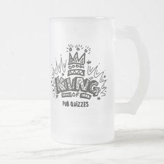 Le Roi Of Pub Quizzes Mug En Verre Givré