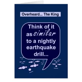 Le roi préfère des exercices de tremblement de carte de vœux