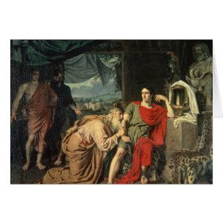 Le Roi Priam priant Achille pour le retour de Cartes