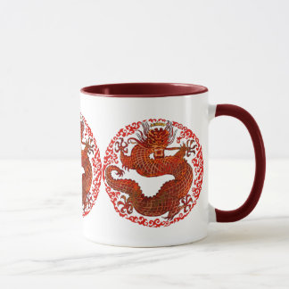 Le Roi Red Mug de dragon