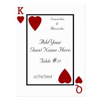 Le roi/Reine de carte de jeu ajournent des cartes