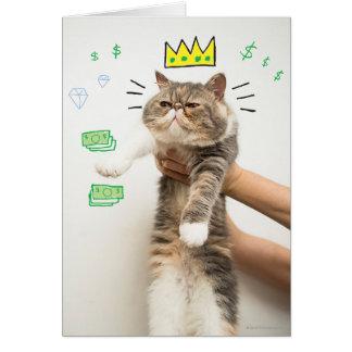 Le Roi riche Cat Carte De Vœux