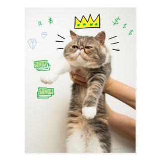 Le Roi riche Cat Carte Postale