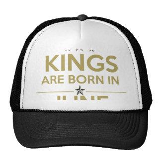 le roi sont né en juin casquettes de camionneur