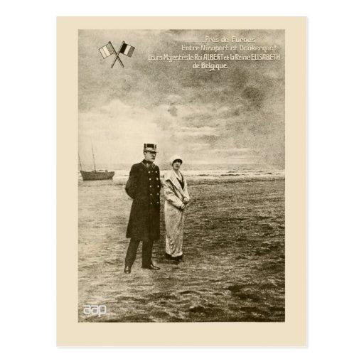 Le Roi vintage Albert, la Reine Elisabeth de photo Carte Postale