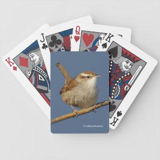Le roitelet d'un Bewick curieux dans l'arbre Jeu De Poker
