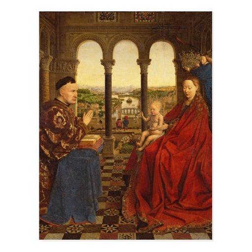 Le Rolin Madonna, c.1435 Cartes Postales