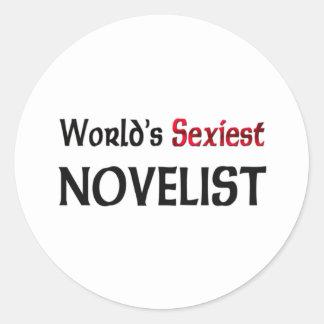 Le romancier le plus sexy du monde autocollants ronds