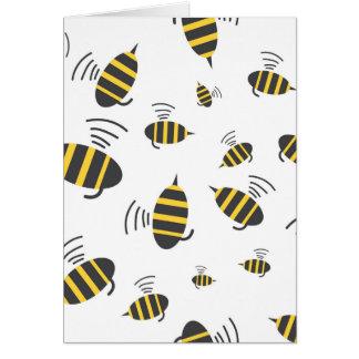 Le ronflement gaffent la bande dessinée d'abeille carte de vœux