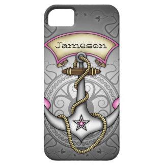 Le rose d'ancre de tatouage de Jerry de marin Coque iPhone 5 Case-Mate