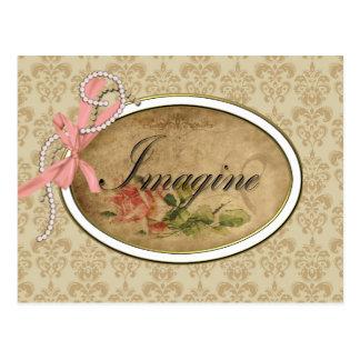 Le rose de cru imaginent carte postale