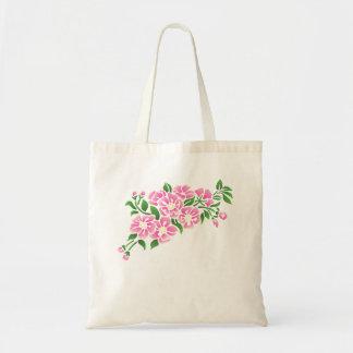 Le rose de fleur de pommier Fleurit le sac