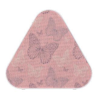 Le rose de papillon haut-parleur bluetooth