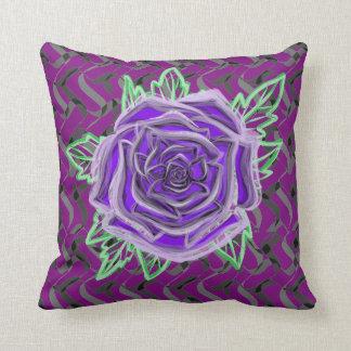 Le rose de pourpre vérifie votre carreau de coussin décoratif