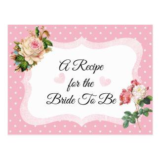 Le rose de rose rougissent carte rose de recette