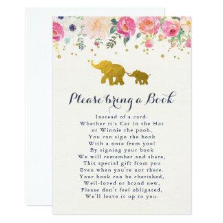 Le rose d'éléphant apportent une carte de livre