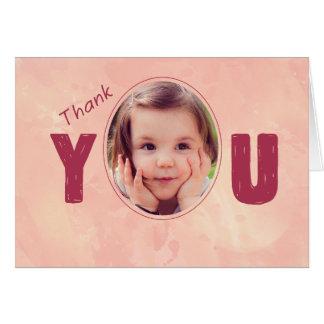 Le rose du parrain du bébé de Merci, Carte De Vœux